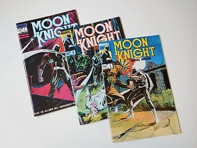 Marvel Moon Knight Special Edition (1983) #1-3, Three book SET NM