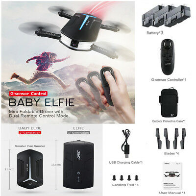 3×Battery+JJRC H37 Mini BABY ELFIE Quadcopter WIFI FPV 720P Camera RC Helicopter