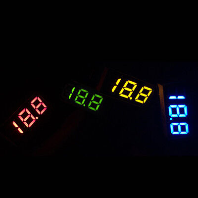 Three-Wire Direct Current DC0-100V  Voltmeter Panel LED Digital Display 5 Colors