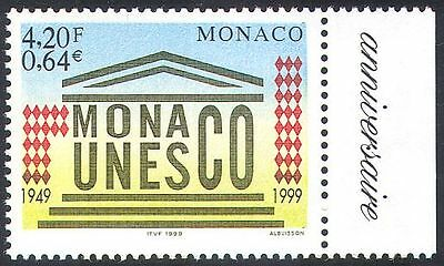 Monaco 1999 UNESCO Admission/UN/Animation/Buildings/Education/Science 1v n41437