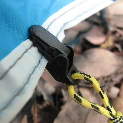 10x Heavy Duty Tarp Clips Clamps For Outdoor Camping Canopy Tent Canvas Black UK