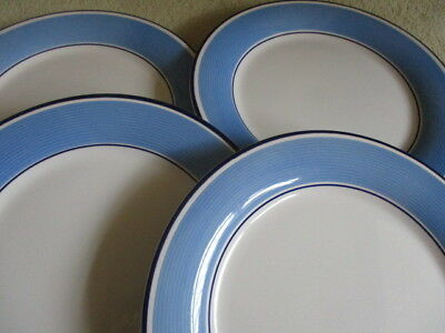 Staffordshire Tableware AVANTI blue 26 cm Dinner plates x 4