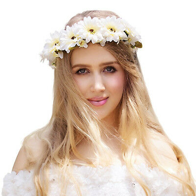 Exquisite Daisy Flower Crown Headband Travel Floral Garland Mother's Day gift