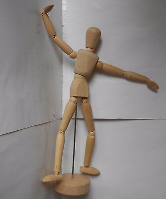 """Artists Wooden Manikin Movable Limbs Human Joints 12"""" Male New in Box Magenti"""