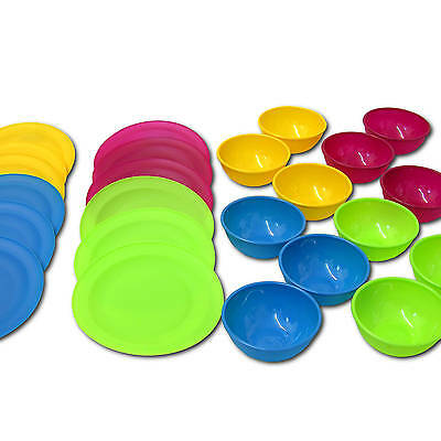 12 Pers. Camping Dishes, Plastic Tableware Plastic Plate Plastic Plate Reusable