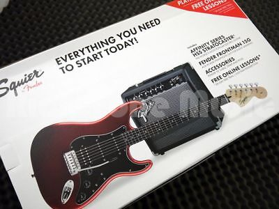 Squier by Fender Stratocaster Electric Guitar Pack - Candy Apple Red
