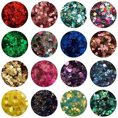 Glitter - Chunky & Fine Glitter Mixed Mix Festival Face & Body Nail Art Hair
