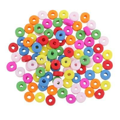 100pcs 8mm Round Rondelle Spacer Beads Loose Beads for DIY Bracelet Necklace