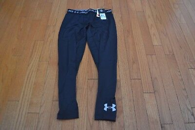 NEW Under Armour Boy's Cold Gear Evo Fitted Leggings - Black, Youth/Large YLG
