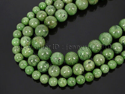 Natural Diopside Jasper Gemstone Round Spacer Beads 15.5'' 4mm 6mm 8mm 10mm 12mm