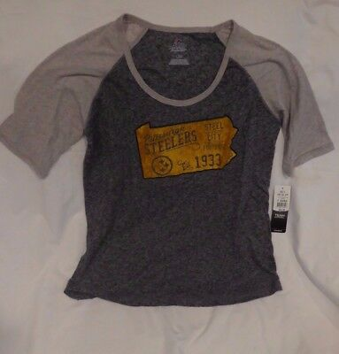 new product 024a4 3751a PITTSBURGH STEELERS NFL Womens Large T-Shirt Nwt $32 Kohl's