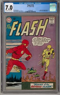 Flash #139 CGC 7.0 (OW-W) Origin and 1st Professor Zoom