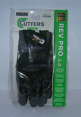 Cutters S451 Rev Pro 2.0 C-Tack Grip Adult Football Receiver Gloves PICK SIZE