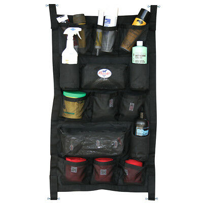 "24"" x 40"" PROFESSIONAL CHOICE DURABLE HORSE TRAILER DOOR CADDY BAG LONG BLACK"