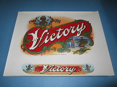 Wholesale Lot of 25 Old - VICTORY - Inner CIGAR Box LABELS - Roman Gladiator