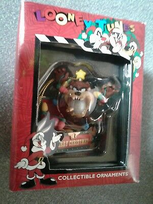 1996 Looney Tunes Tasmanian Devil Collectible Christmas Ornament NEW
