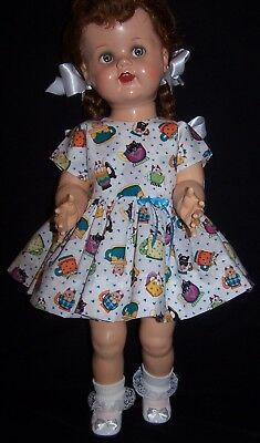 "Cats Dress for 22"" Saucy Walker or similar Dolls - DRESS ONLY"