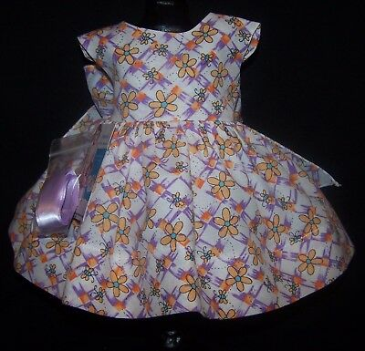 "Bees and Flowers Dress for 22"" Saucy Walker or similar Dolls - DRESS ONLY"