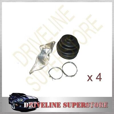 2 Outer Cv Joint Boots + 2 Inner Boot Kit Ford Courier Raider 1988-2006 All