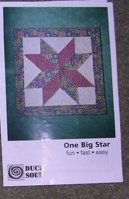 """""""One Big Star"""" Quilt Kit by Duck Soup"""
