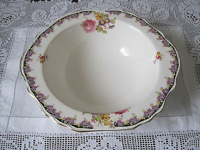 Gorgeous James Kent Pink And Mauve Roses Large Serving Bowl ~ Pat 2046