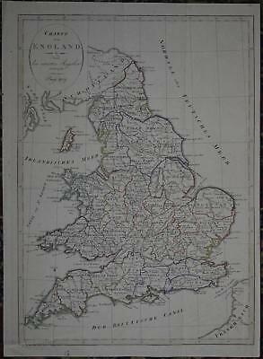 England Island Copperplate 1809 Antique Map 60158