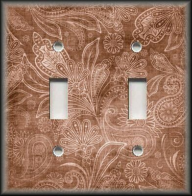 Light Switch Plate Cover - Vintage Gypsy Floral Copper Home Decor Wallplates