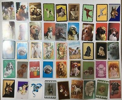 SWAP CARD LOT OF 46 DOGS FROM 1950's/60's/70's