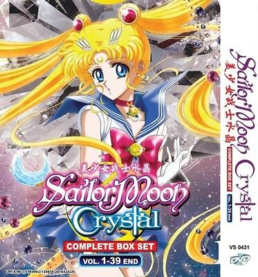 SAILOR MOON CRYSTAL Paket | TV S1+S2 | Eps.01-39 | Subs | 3 DVDs in 2 Sets
