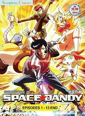 *Billig!* SPACE DANDY Paket | S1+S2 | Eps 1-26 | English Subs | 2 DVDs in 2 Sets