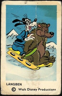 1965 Vintage Swedish Unnumbered Disney Set Gum Card Goofy