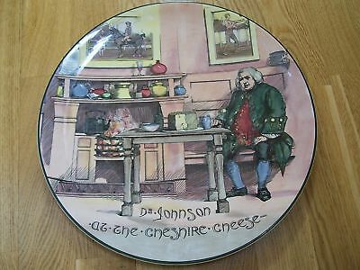 """Large Royal Doulton """" Dr Johnson Cheese Charger """""""