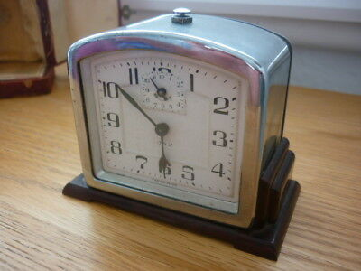 JAZ travel alarm clock in case pre 1939