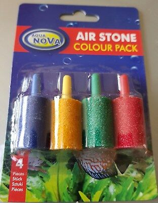 Aquarium Fish Tank Air Stones Airstones 4 Colour Pack