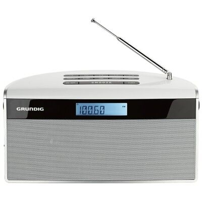 Grundig Music 81 Radio-Player weiss 10 Senderspeicher 1,5 Watt