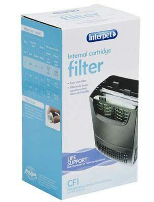 Interpet CF1 Internal Aquarium Fish Filter 320LPH For Tanks 36-68 Litres