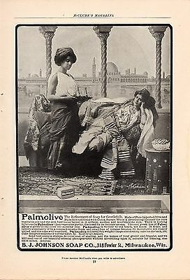 Five Palmolive Soap Ads-Two 1904,1907,1912,1916