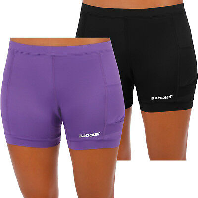 Babolat Womens Shorty Match Performance Tennis Sports Compression Shorts
