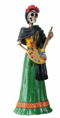 Frida Kahlo Skeleton Painting Day of the Dead Dia de Los Muertos Figurine