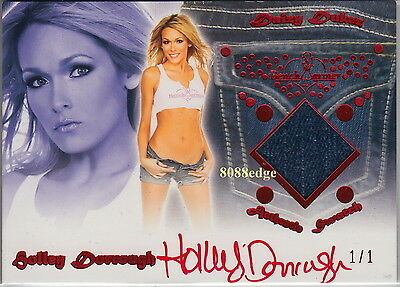 2012 Benchwarmer Daizy Dukez Jeans Auto: Holley Dorrough #1/1 Of One Autograph