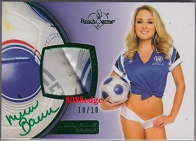 2012 Benchwarmer Soccer Ball Auto:michelle Baena #10/10 Swatch Autograph Playboy