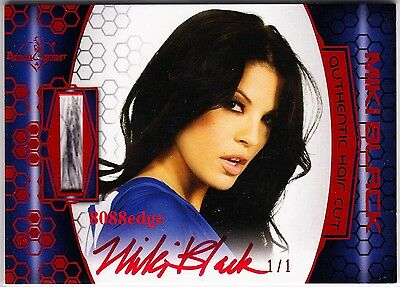2012 Benchwarmer Soccer Hair Cut Auto: Miki Black #1/1 Of Red Autograph Playboy