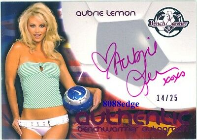 2010 Benchwarmer International Auto: Aubrie Lemon #14/25 Autograph