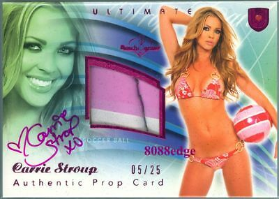 2010 Benchwarmer Ultimate Prop Auto: Carrie Stroup #5/25 Autograph Ball Swatch