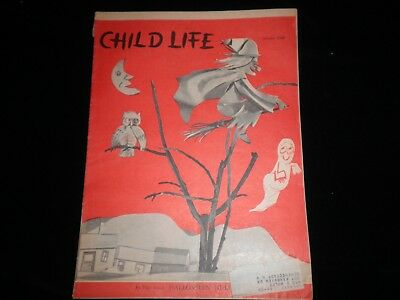 Child Life Magazine October 1957  Halloween Issue Vintage Ultra Rare