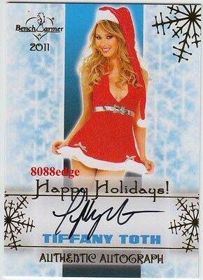 2011 Benchwarmer Holiday Auto: Tiffany Toth - Autograph Gold Playboy Playmate