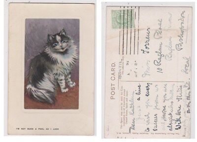 Early Postcard, Animals Cats, Artist Signed Louis Wain, I`m not Such A Fool,1908