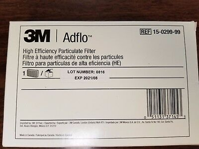 (1) - 3M ADFLO HIGH EFFICIENCY PARTICULATE FILTER, MAGENTA, 15-0299-99 Exp. 2021
