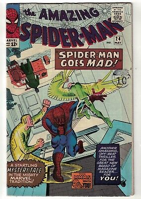 Marvel Comics Spiderman 24 Vulture Spidey goes mad hot book  5.5 fn-