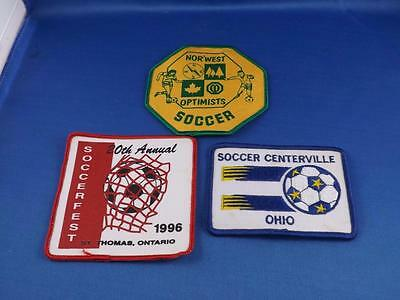 Soccer Patches Badges Lot Of 3 Norwest Optimists Soccerfest S Thomas Canada Ohio